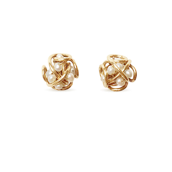 The Petite Cluster Post Earring