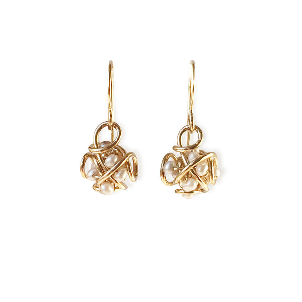 The Petite Cluster Drop Earring