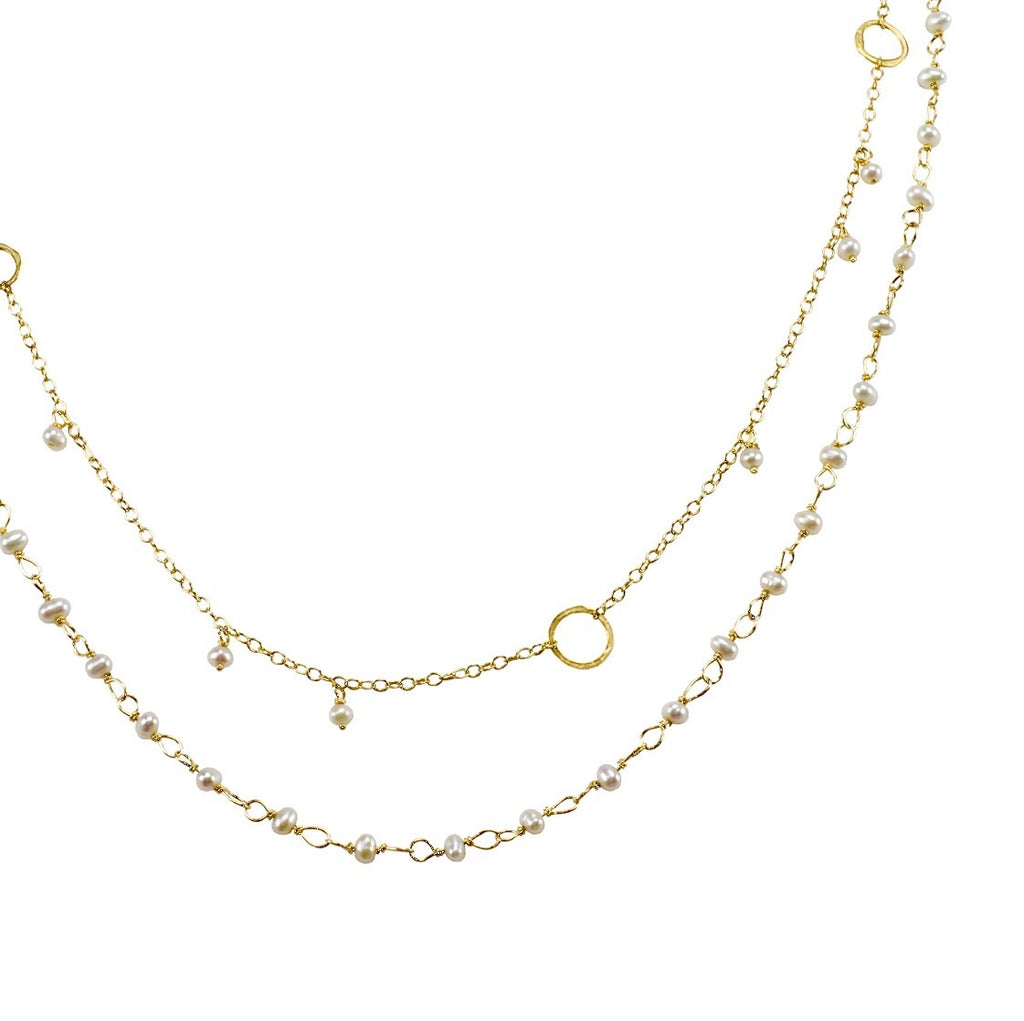 circles products necklace with image stones the delicate tied and gold pearl hand