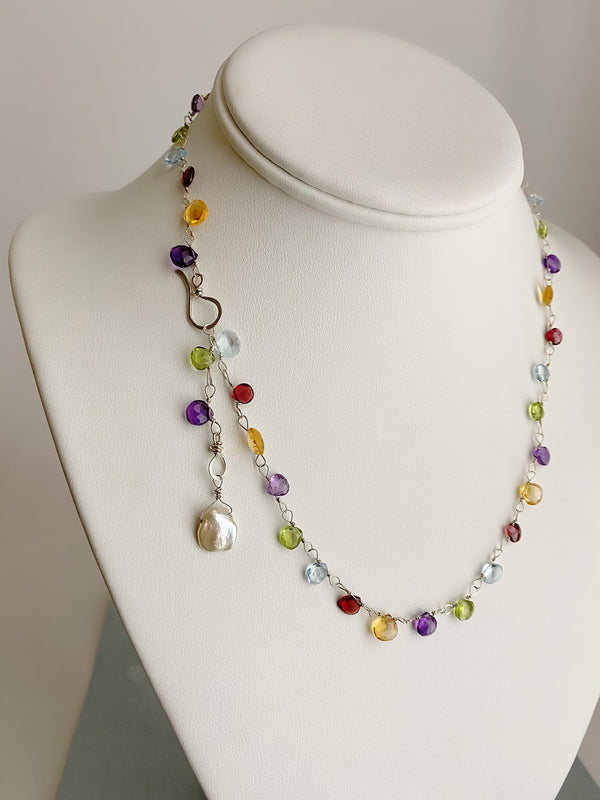 The Rainbow Necklace- Silver