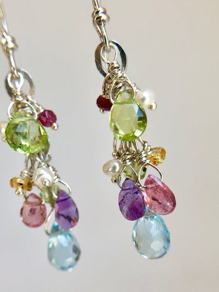 Cascading Gem Drop Earring