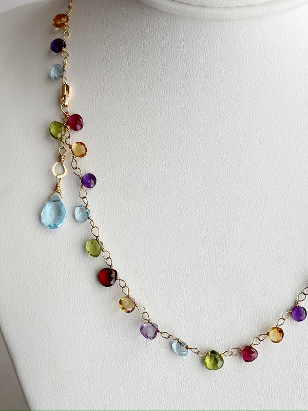 The Rainbow Necklace -Gold