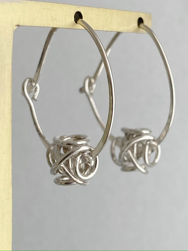 Floating Sculpture Earring