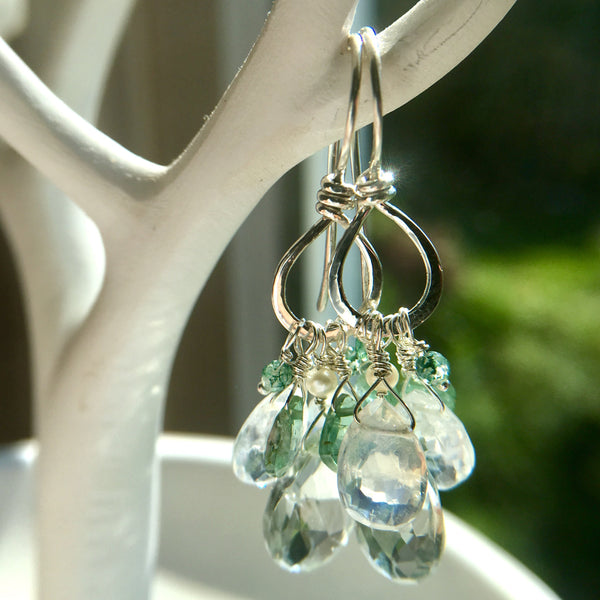 The Watery Mix Charm Drop Earring