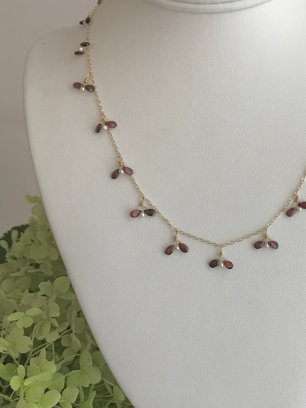 The Original  Firefly Necklace in Garnet