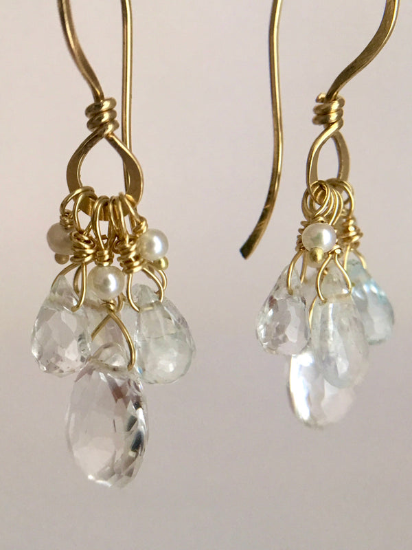 The Stone Spray Drop Earring - Ethereal mix
