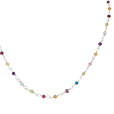 The Hand Tied Gemstone Necklace