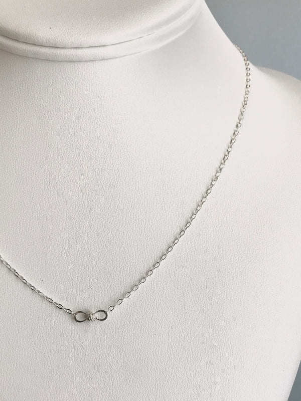 The Petite Infinity Knot Station Necklace, Silver