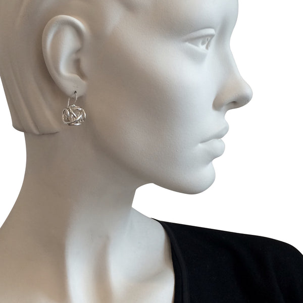 The Large Sculpture Closed Drop Earring