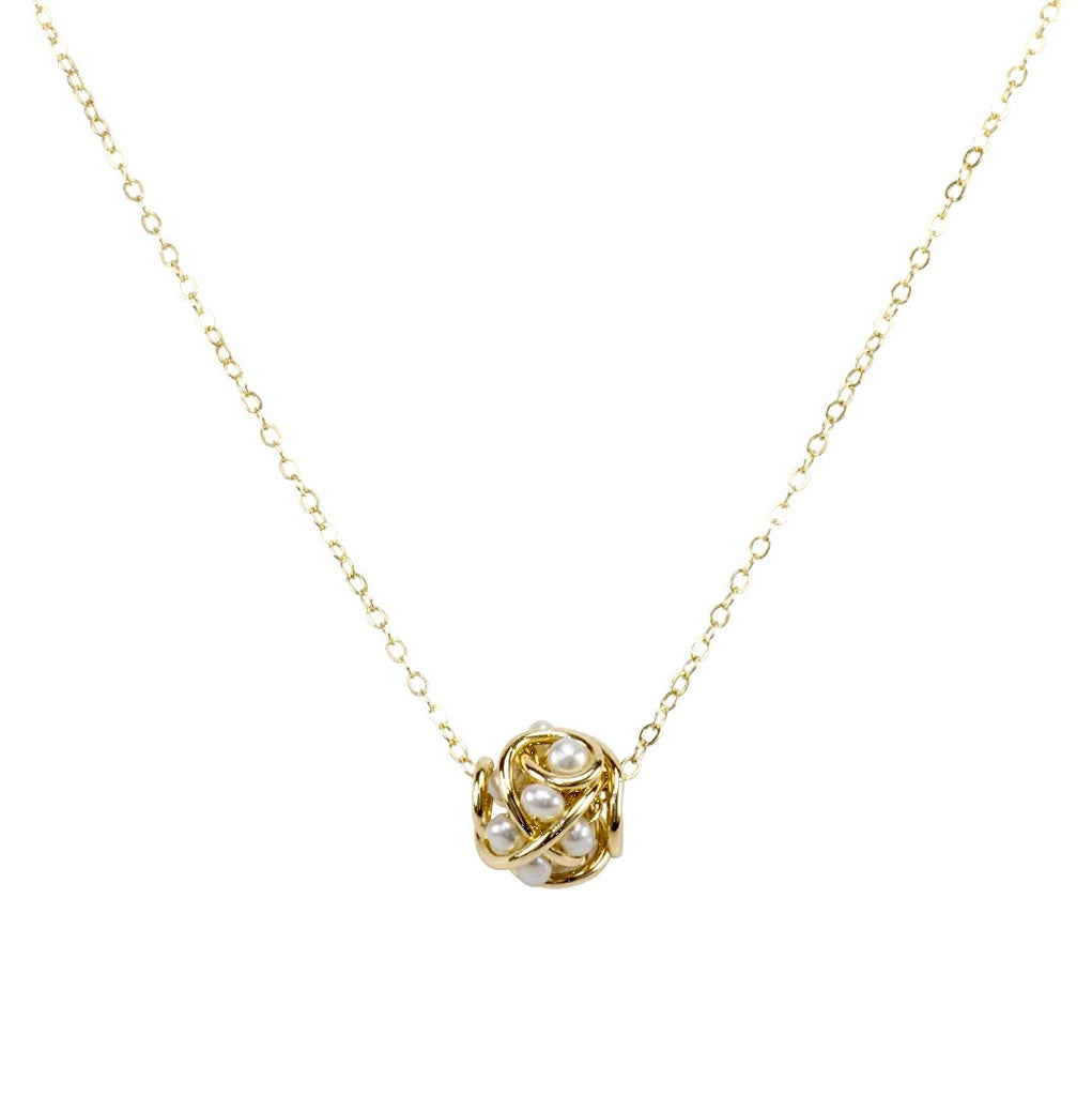 The small cluster pendant necklace lucile martin jewelry the small cluster pendant necklace aloadofball Image collections