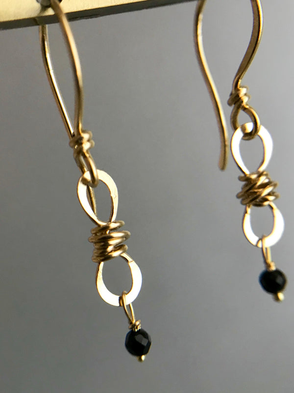 The Petite Infinity Knot Drop Earring, Gold
