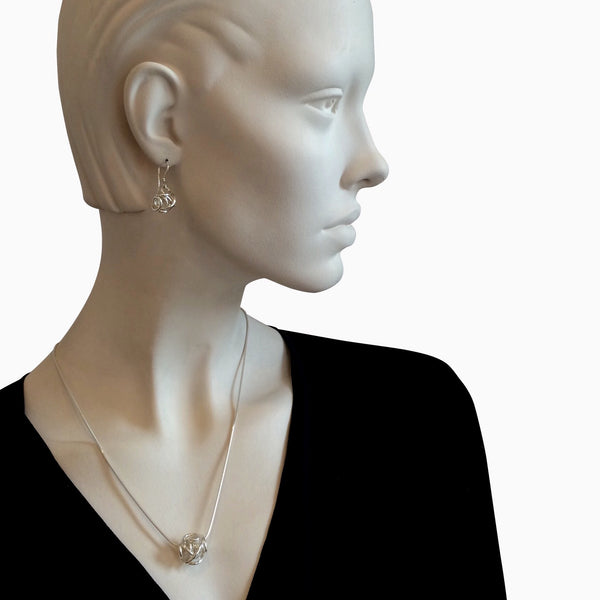 The Large Sculpture Pendant Necklace