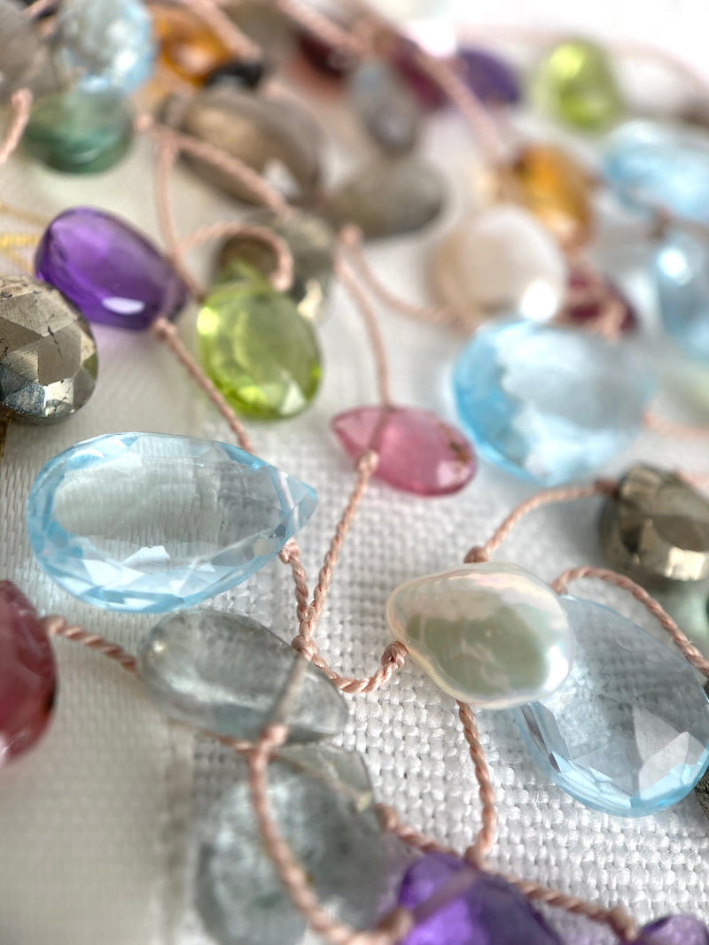The Floating Mixed Gemstone Necklace - Multi