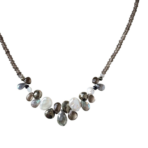 The Mixed Stone Front Necklace