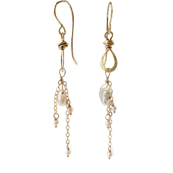 The Double Drape Charm Drop Earring