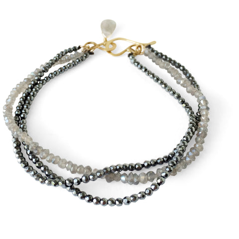 The Triple Stone Strung Bracelet