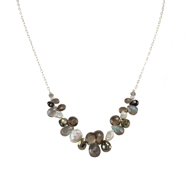 The Everyday Mixed Stone Front Necklace