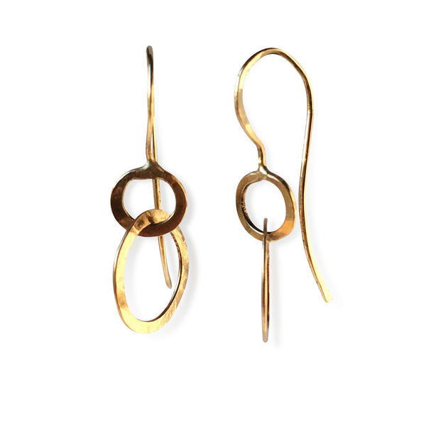 The Double Circle Drop Earring