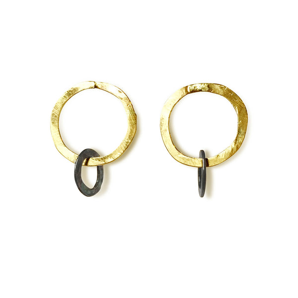 The Simple Double Circle Post Earring