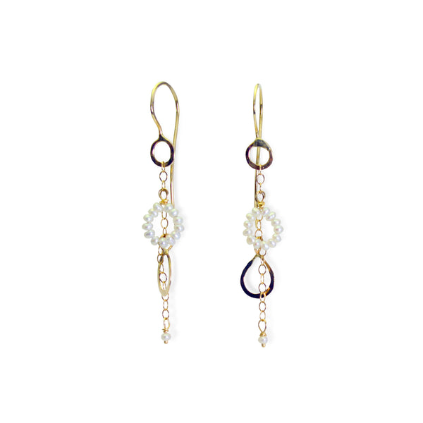 The Stone Circle & Petal Drop Earring