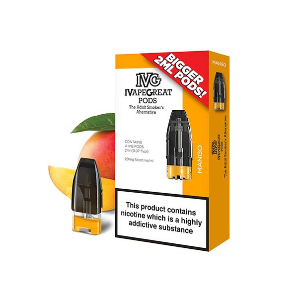 I VG Flavoured 20mg Pre-Filled 2ML Pods - class1vape.com