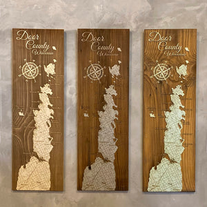 Wood Map - Door County