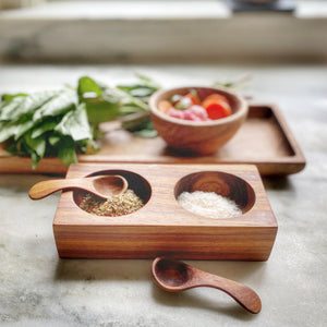 Wood Salt & Pepper Well