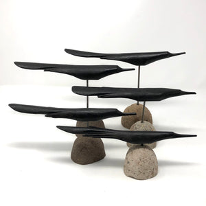 Bird Flock Scuplture Set