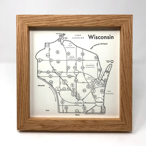 Wisconsin Letterpress - Light Frame