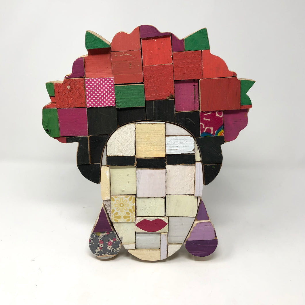 Block Wall Art - Frida