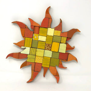 Block Wall Art - Sun