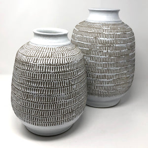 Dot & Hash Ceramic Vases