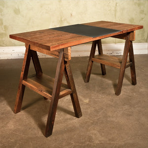 Pine Trestle Work Table Table