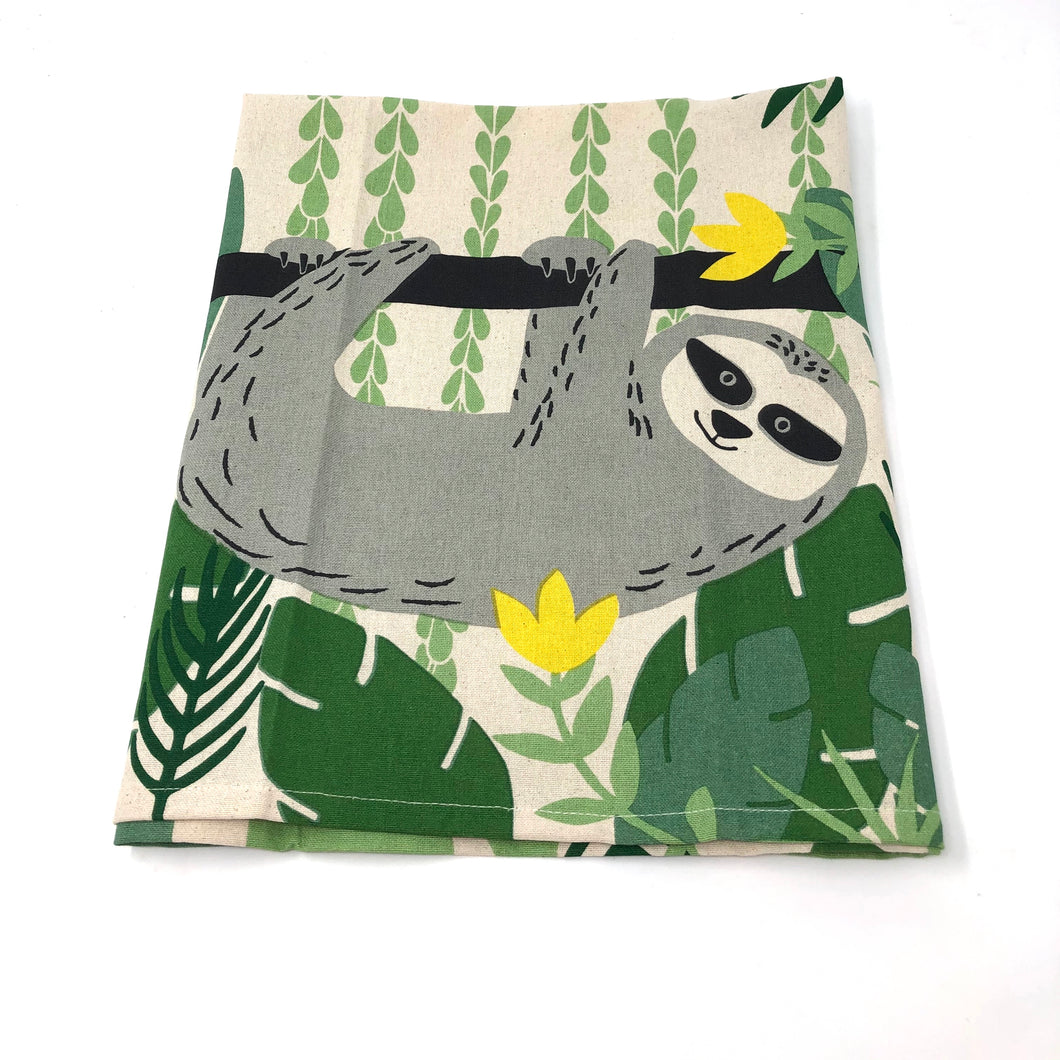 Sloth Cotton Kitchen Towel