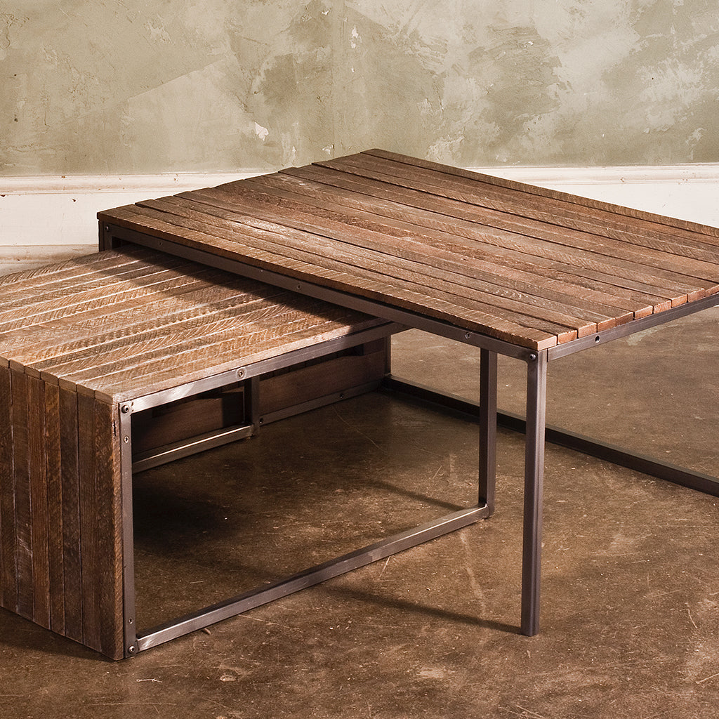 Tobacco Lath Nesting Coffee Tables (Set of 2)