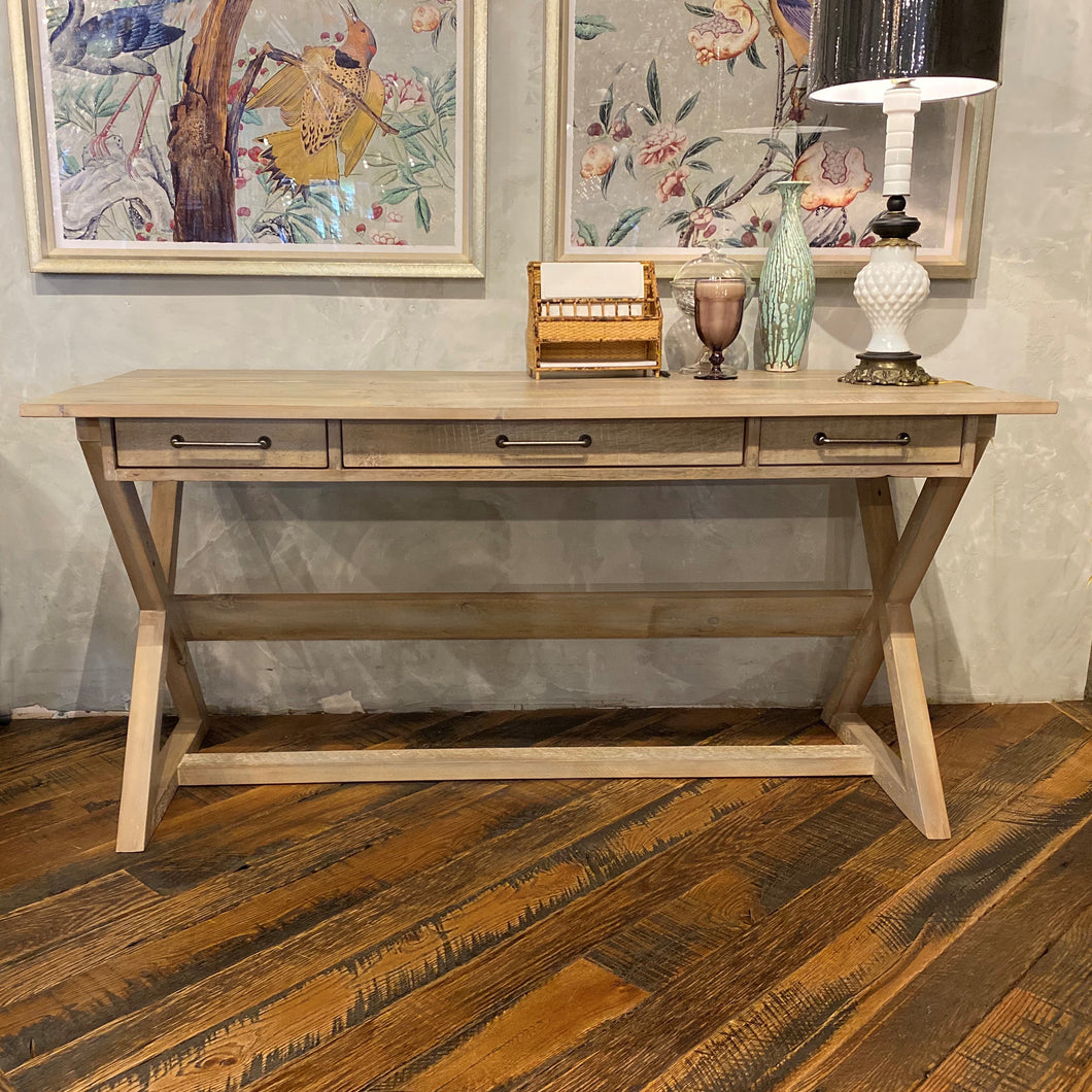 Reclaimed Pine Trestle Desk