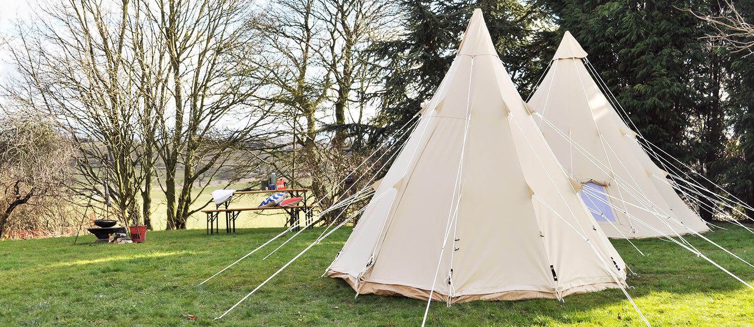 Tepee for children | Camp out in a cavernous party place | Cosy under canvas