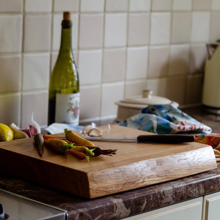 Waney Edge Oak Chopping board | Live Edge Chopping Board | James MArtin Chopping Board | Kindwood