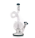 HVY Glass Loop Neck Bubble Showerhead Water Pipe