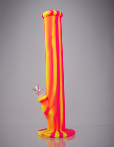 Nameless Glass Silicone Straight Tube Bong - 14""