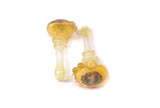 Vulcan Glass Wig Wag Spoon Pipe - Silver or Gold Fuming