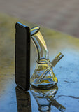 Nameless Glass Mini Bent Neck Dab Rig with Wig Wag Design