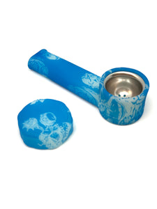 Nameless Glass Blue Skull Spoon Pipe