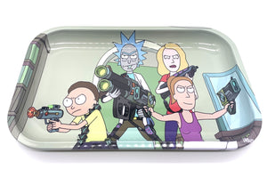 "Rick and Morty Energy Gun Rolling Tray - 7""x11"""