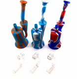 Nameless Glass Silicone Recycler Rig