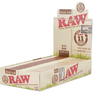 Raw Organic Hemp Rolling Papers - 1 1/4""