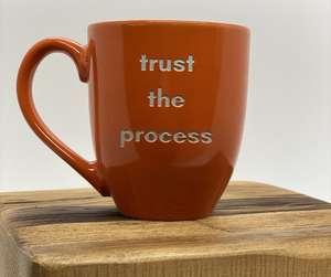 Follow-Your-True-North-Mug-Orange-trust-the-process'