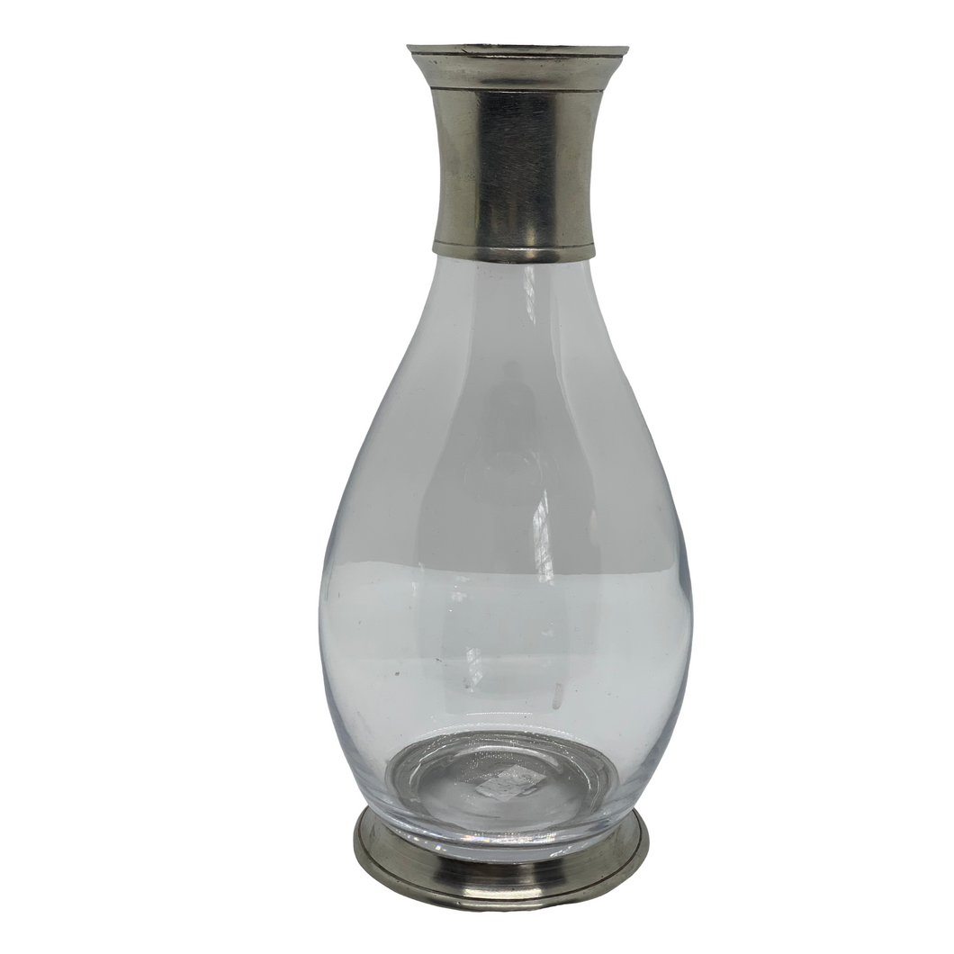 Pewter and Glass Tall Wine Carafe - MATCH