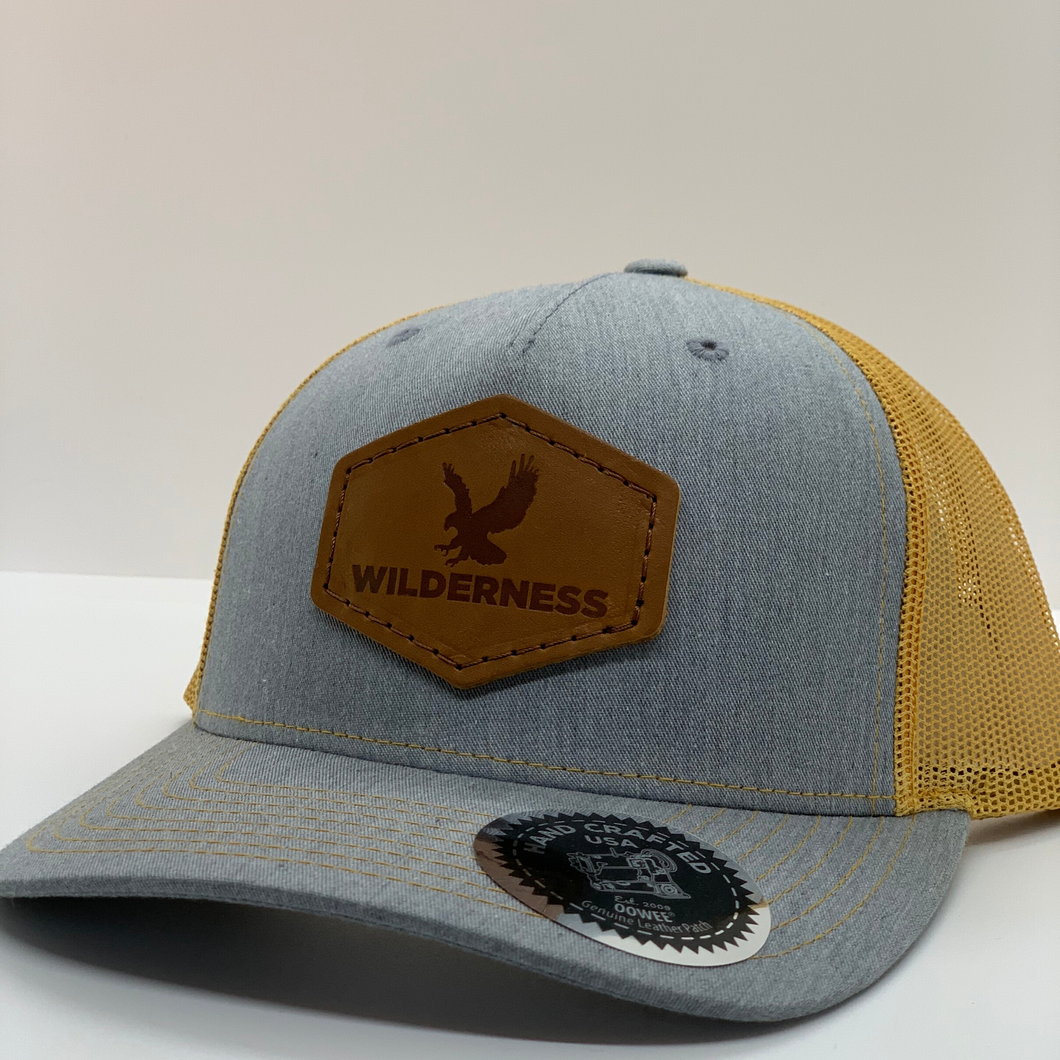 Snowbird Leather Patch Hats - Wilderness Gray