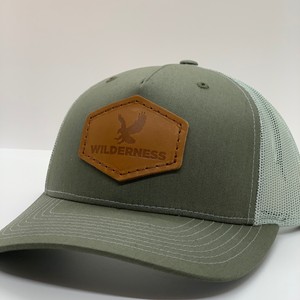 Snowbird Leather Patch Hats - Wilderness Green